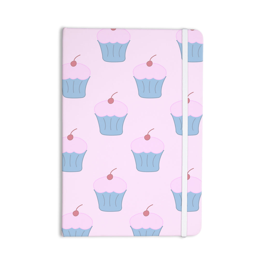 "NL Designs ""Pink Cupcakes"" Blue Blush Everything Notebook - KESS InHouse  - 1"
