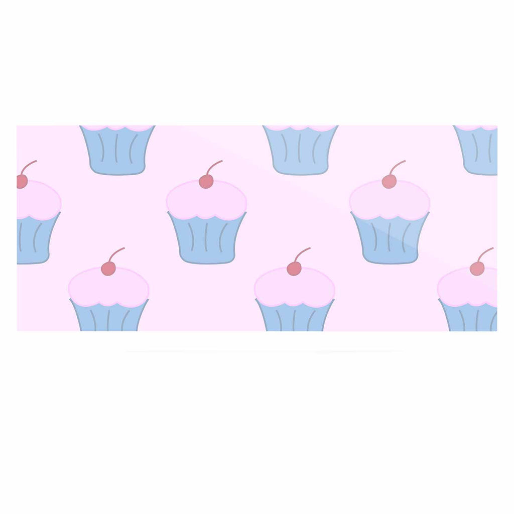 "NL Designs ""Pink Cupcakes"" Blue Blush Luxe Rectangle Panel - KESS InHouse  - 1"