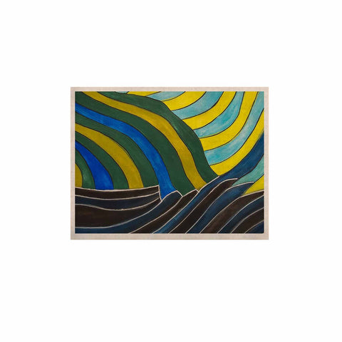 "NL Designs ""Desert Waves"" Yellow Blue KESS Naturals Canvas (Frame not Included) - KESS InHouse  - 1"