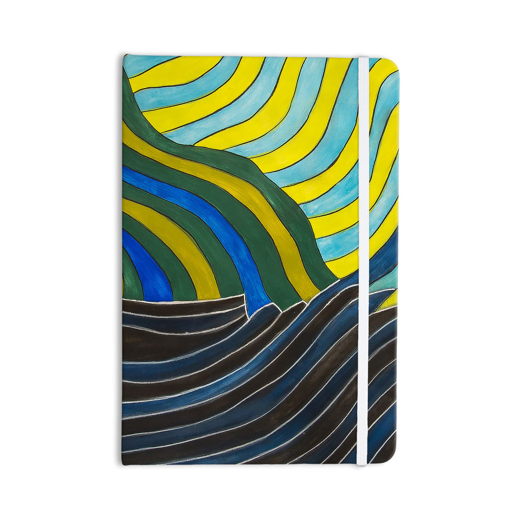 "NL Designs ""Desert Waves"" Yellow Blue Everything Notebook - KESS InHouse  - 1"