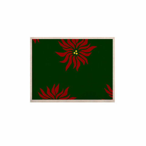 "NL Designs ""Poinsettias"" Green Red KESS Naturals Canvas (Frame not Included) - KESS InHouse  - 1"