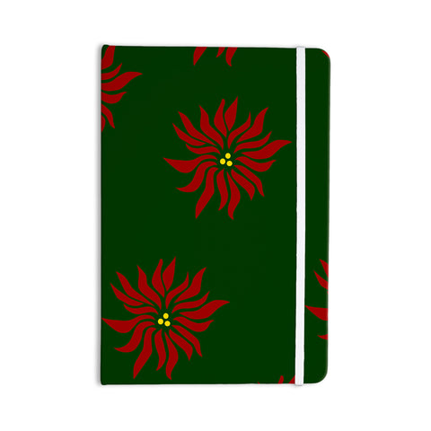 "NL Designs ""Poinsettias"" Green Red Everything Notebook - KESS InHouse  - 1"
