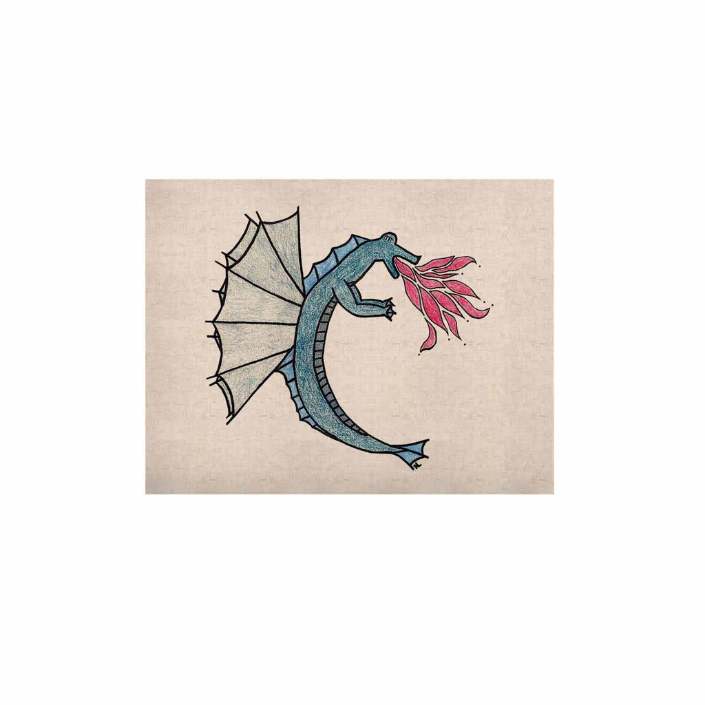 "NL Designs ""Water Dragon"" Blue White KESS Naturals Canvas (Frame not Included) - KESS InHouse  - 1"