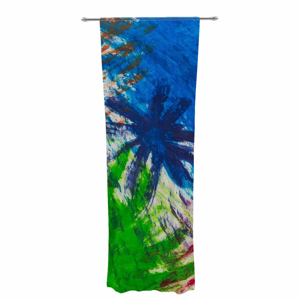 "NL Designs ""Splatter Stars"" Abstract Painting Decorative Sheer Curtain - KESS InHouse  - 1"