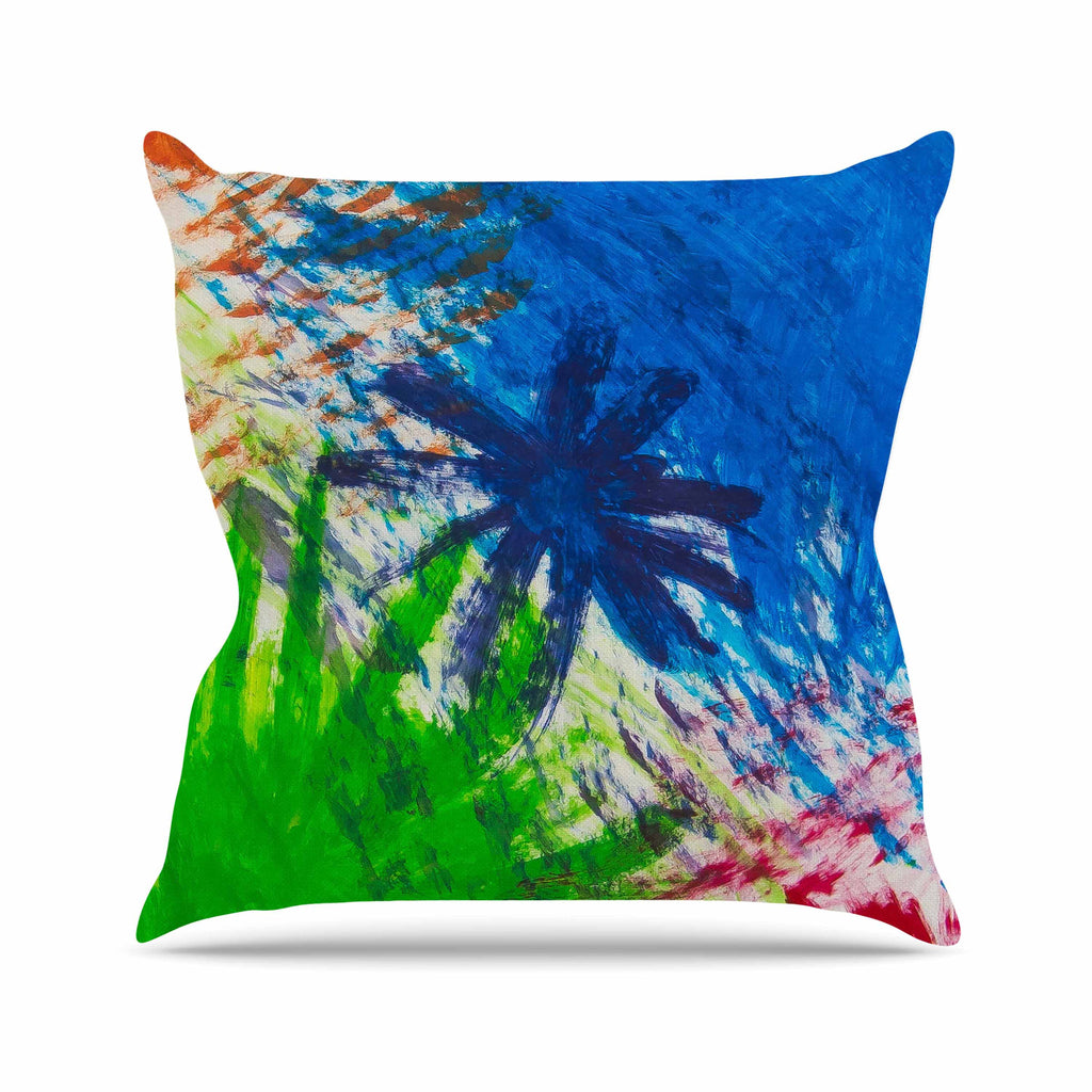 "NL Designs ""Splatter Stars"" Abstract Painting Outdoor Throw Pillow - KESS InHouse  - 1"