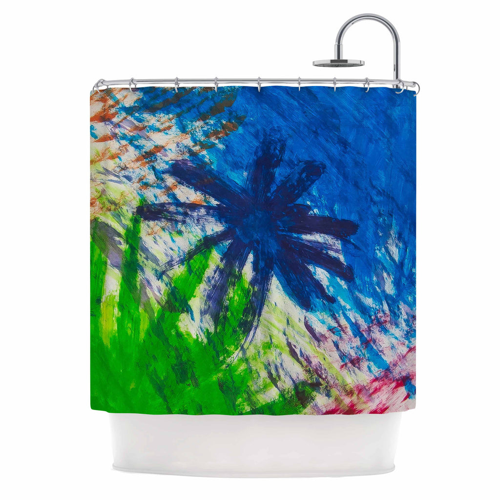 "NL Designs ""Splatter Stars"" Abstract Painting Shower Curtain - KESS InHouse"
