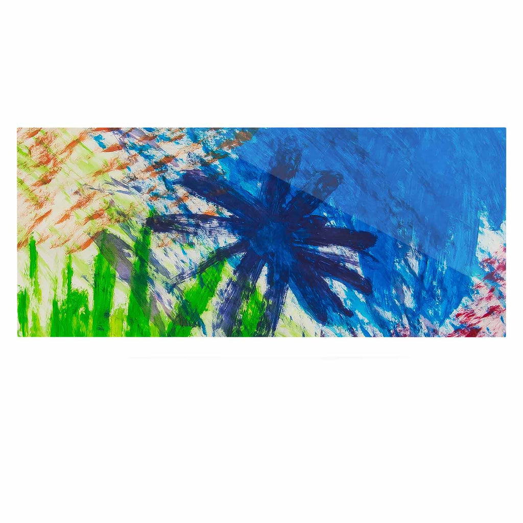 "NL Designs ""Splatter Stars"" Abstract Painting Luxe Rectangle Panel - KESS InHouse  - 1"