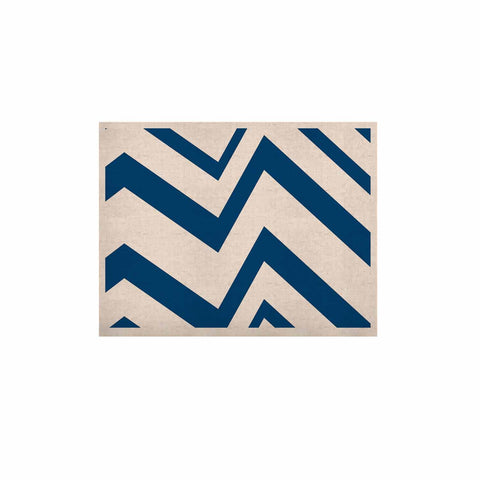 "NL Designs ""ZigZag Navy"" Blue White KESS Naturals Canvas (Frame not Included) - KESS InHouse  - 1"