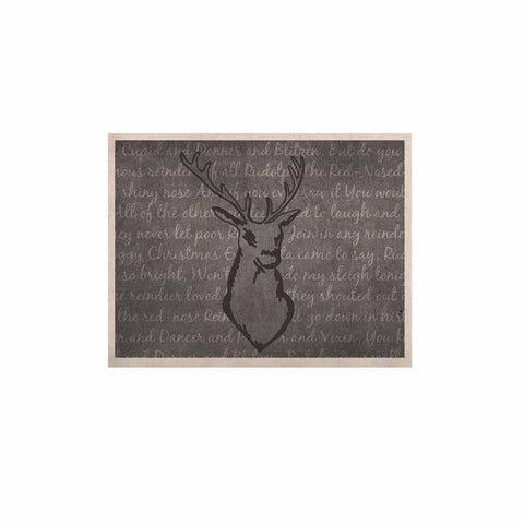 "NL Designs ""Reindeer"" Gray White KESS Naturals Canvas (Frame not Included) - KESS InHouse  - 1"