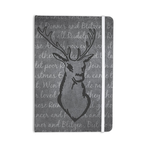 "NL Designs ""Reindeer"" Gray White Everything Notebook - KESS InHouse  - 1"