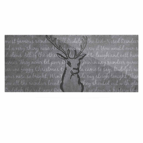 "NL Designs ""Reindeer"" Gray White Luxe Rectangle Panel - KESS InHouse  - 1"