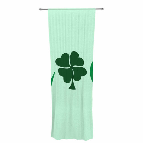 "NL Designs ""Lucky"" Mint Green Decorative Sheer Curtain - KESS InHouse  - 1"