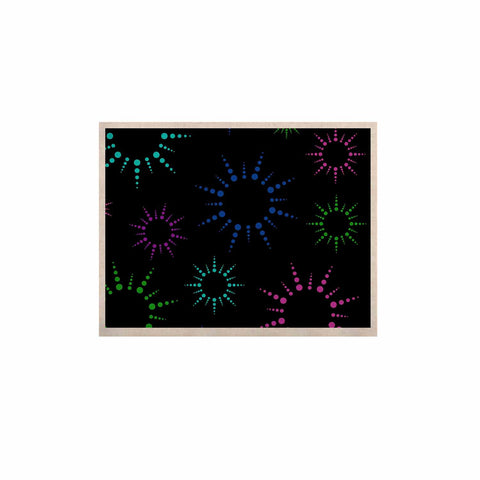 "NL Designs ""Rainbow Fireworks Black"" Multicolor Geometric KESS Naturals Canvas (Frame not Included) - KESS InHouse  - 1"