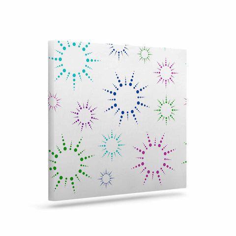 "NL Designs ""Rainbow Fireworks "" Multicolor Pattern Canvas Art - KESS InHouse  - 1"