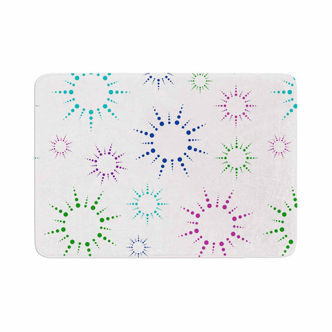 "NL Designs ""Rainbow Fireworks "" Multicolor Pattern Memory Foam Bath Mat - KESS InHouse"