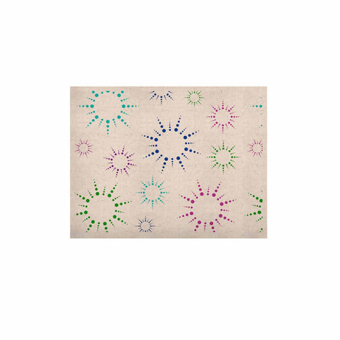 "NL Designs ""Rainbow Fireworks "" Multicolor Pattern KESS Naturals Canvas (Frame not Included) - KESS InHouse  - 1"