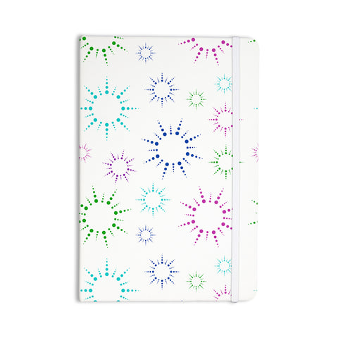 "NL Designs ""Rainbow Fireworks "" Multicolor Pattern Everything Notebook - KESS InHouse  - 1"