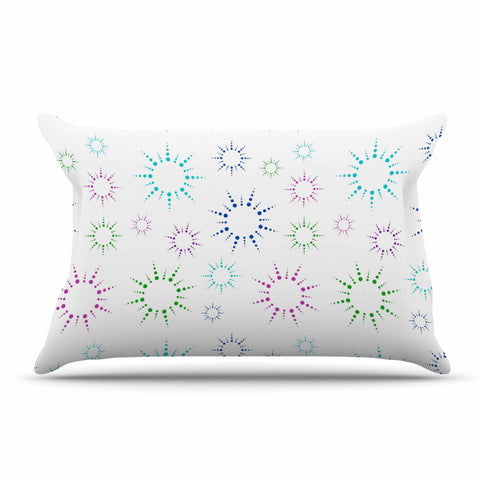 "NL Designs ""Rainbow Fireworks "" Multicolor Pattern Pillow Sham - KESS InHouse  - 1"
