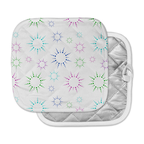 "NL Designs ""Rainbow Fireworks "" Multicolor Pattern Pot Holder"