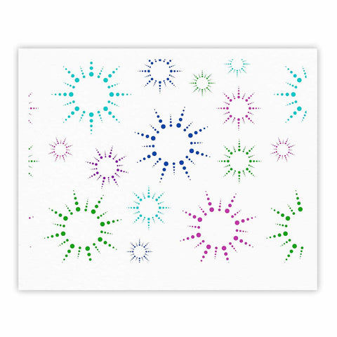 "NL Designs ""Rainbow Fireworks "" Multicolor Pattern Fine Art Gallery Print - KESS InHouse"