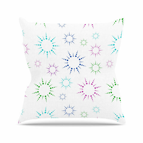 "NL Designs ""Rainbow Fireworks "" Multicolor Pattern Outdoor Throw Pillow - KESS InHouse  - 1"