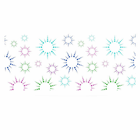 "NL Designs ""Rainbow Fireworks "" Multicolor Pattern Luxe Rectangle Panel - KESS InHouse  - 1"