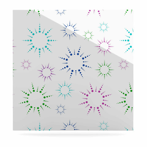 "NL Designs ""Rainbow Fireworks "" Multicolor Pattern Luxe Square Panel - KESS InHouse  - 1"