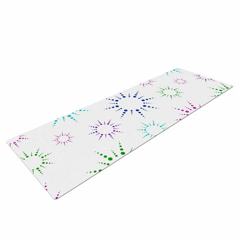 "NL Designs ""Rainbow Fireworks "" Multicolor Pattern Yoga Mat - KESS InHouse  - 1"
