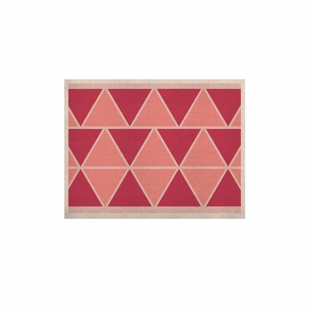 "NL designs ""Coral Peach Triangles"" Pink Patterns KESS Naturals Canvas (Frame not Included) - KESS InHouse  - 1"