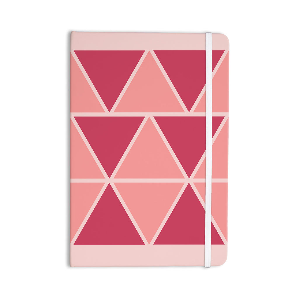 "NL designs ""Coral Peach Triangles"" Pink Patterns Everything Notebook - KESS InHouse  - 1"