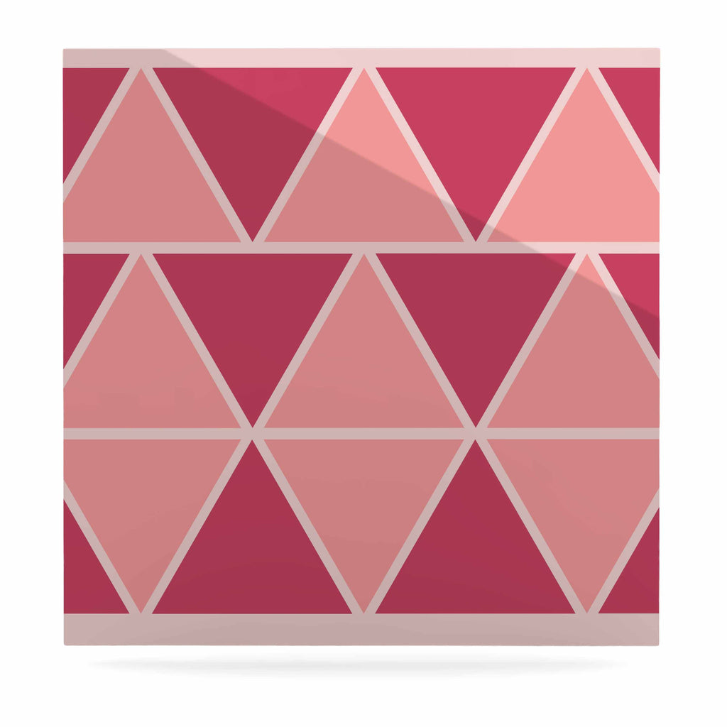"NL designs ""Coral Peach Triangles"" Pink Patterns Luxe Square Panel - KESS InHouse  - 1"