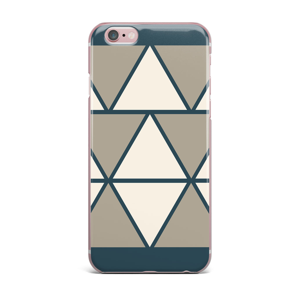 "NL designs ""Sandstone Triangles"" Beige Geometric iPhone Case - KESS InHouse"