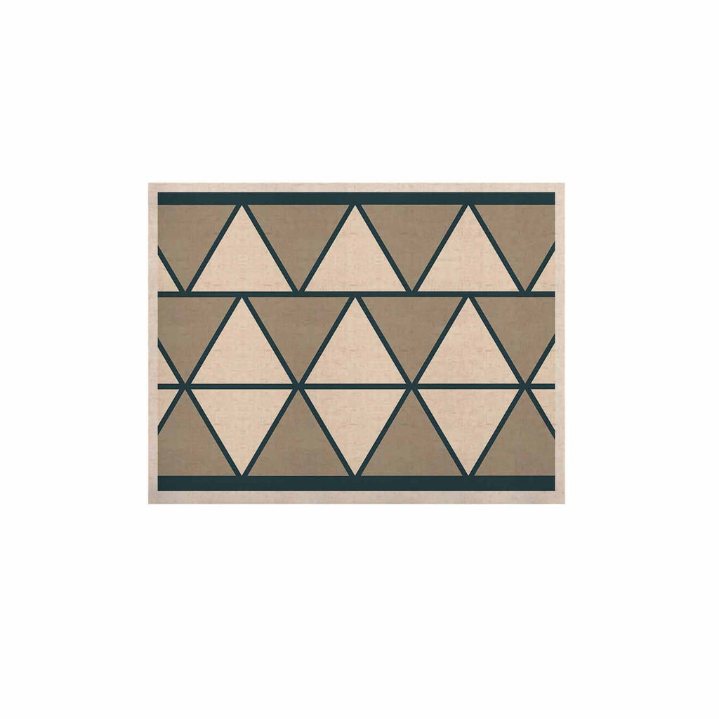 "NL designs ""Sandstone Triangles"" Beige Geometric KESS Naturals Canvas (Frame not Included) - KESS InHouse  - 1"