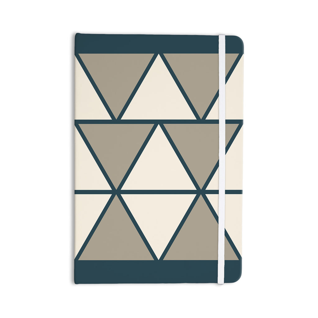 "NL designs ""Sandstone Triangles"" Beige Geometric Everything Notebook - KESS InHouse  - 1"