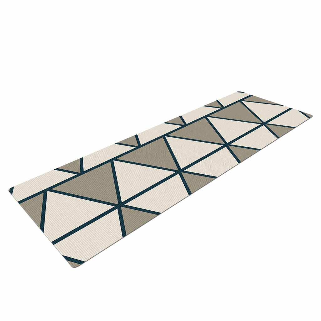 "NL designs ""Sandstone Triangles"" Beige Geometric Yoga Mat - KESS InHouse  - 1"