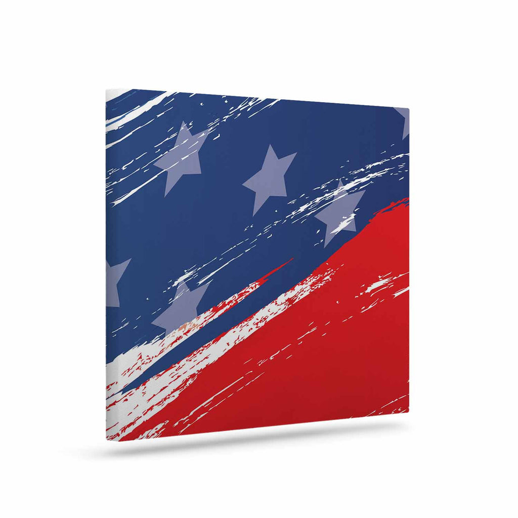 "NL designs ""Red White Blue"" Red White Canvas Art - KESS InHouse  - 1"