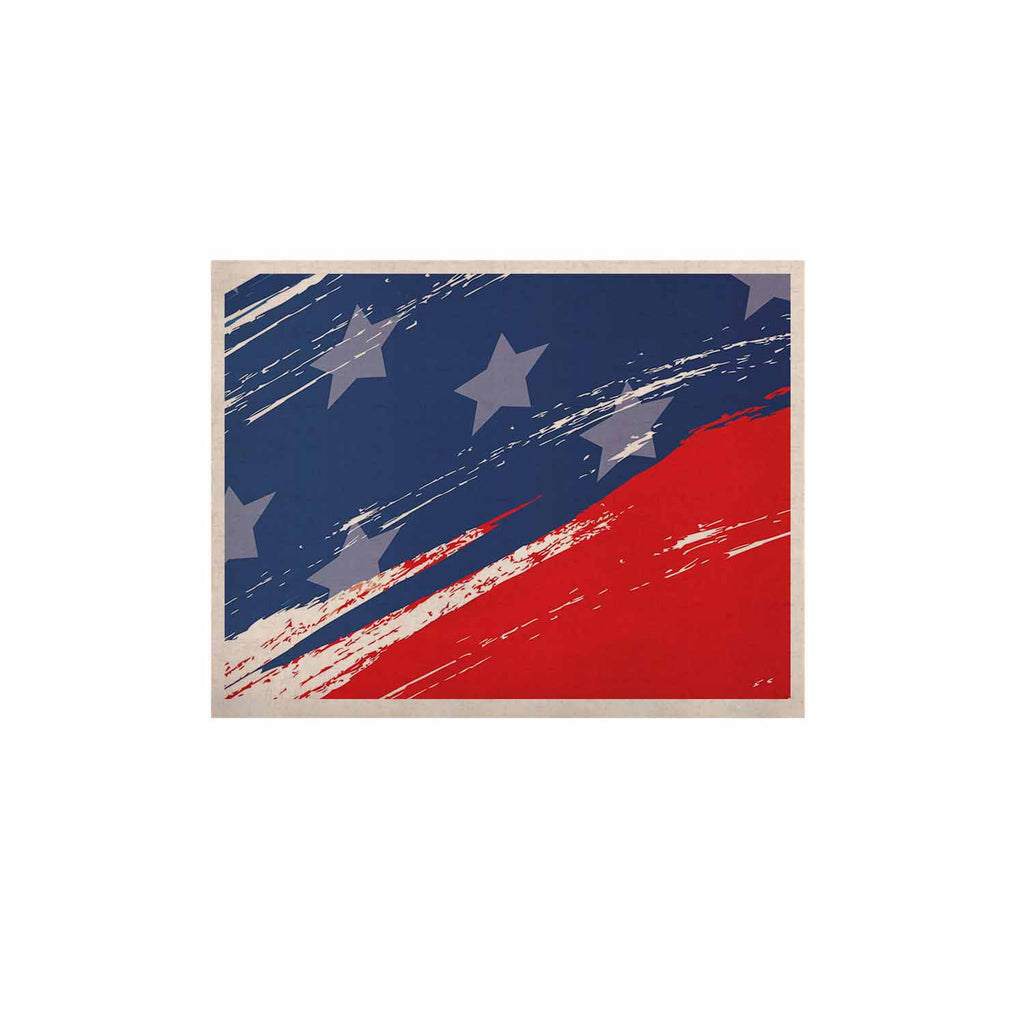 "NL designs ""Red White Blue"" Red White KESS Naturals Canvas (Frame not Included) - KESS InHouse  - 1"