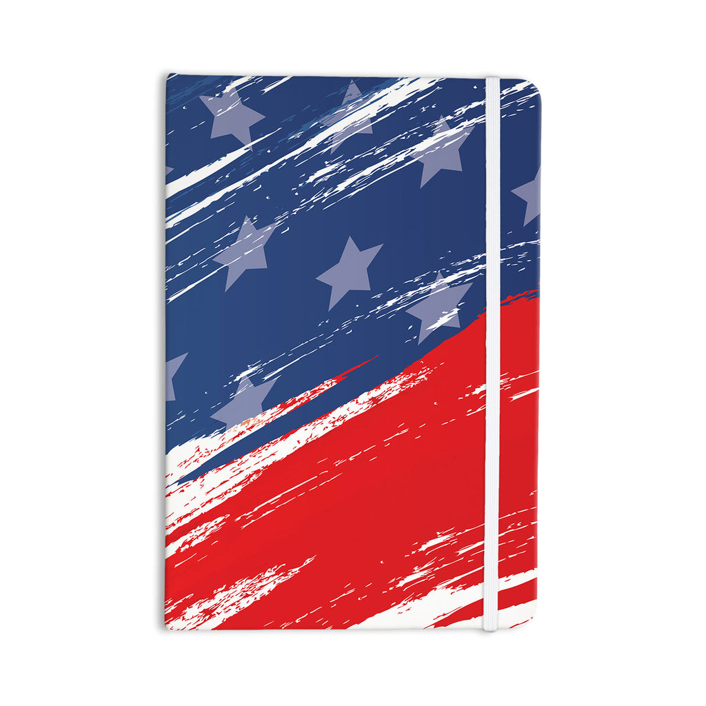 "NL designs ""Red White Blue"" Red White Everything Notebook - KESS InHouse  - 1"