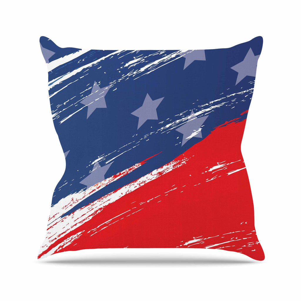 "NL designs ""Red White Blue"" Red White Throw Pillow - KESS InHouse  - 1"