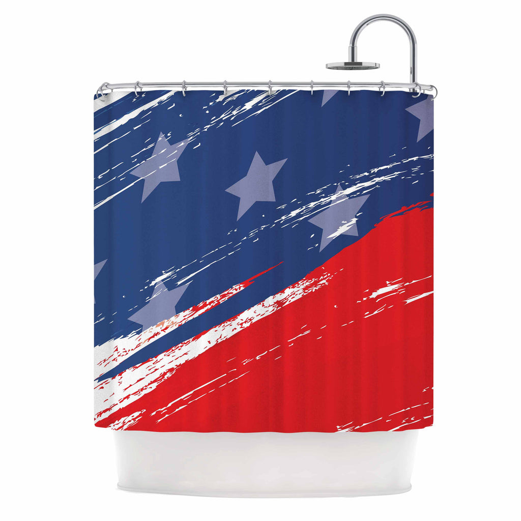 "NL designs ""Red White Blue"" Red White Shower Curtain - KESS InHouse"