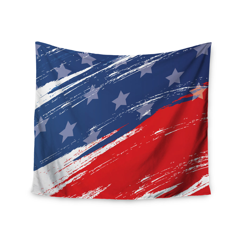 "NL designs ""Red White Blue"" Red White Wall Tapestry - KESS InHouse  - 1"