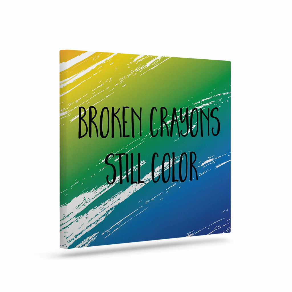 "NL designs ""Broken Crayons"" Blue Abstract Canvas Art - KESS InHouse  - 1"