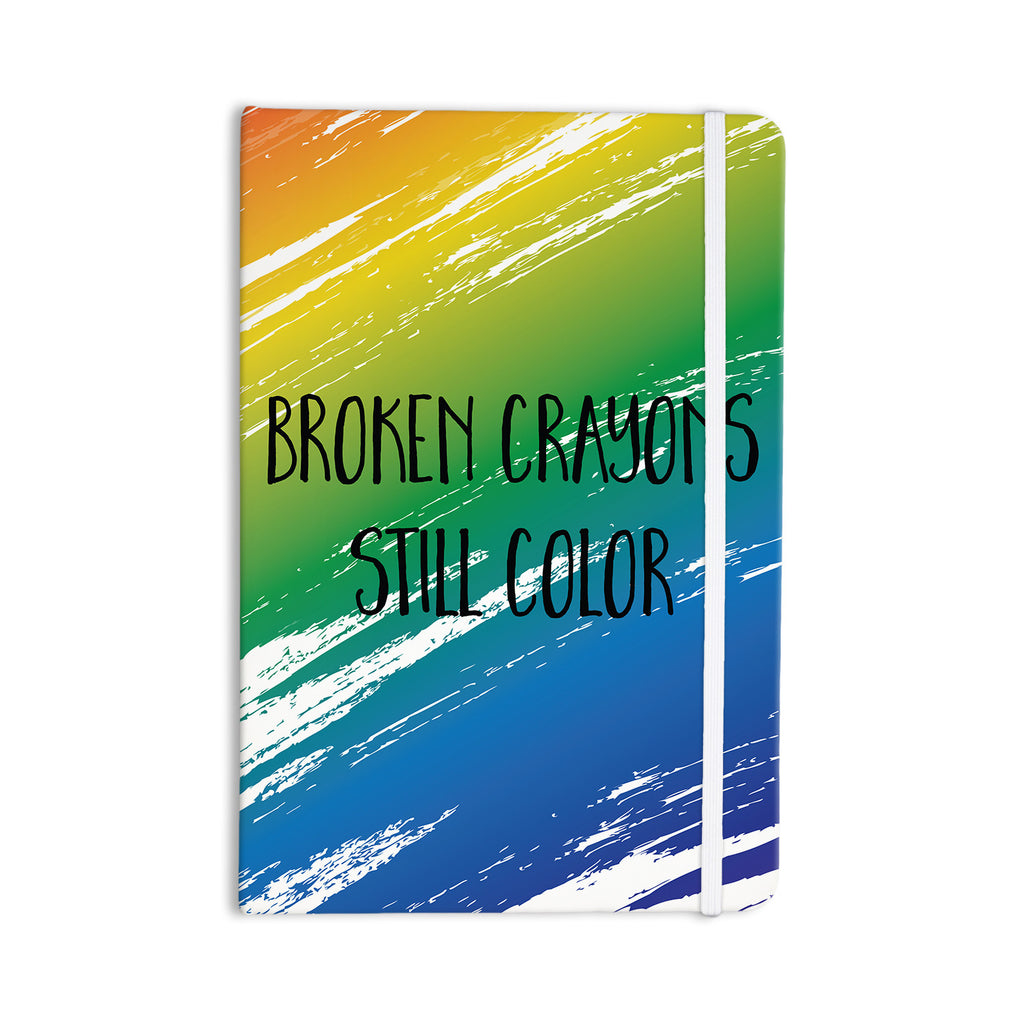 "NL designs ""Broken Crayons"" Blue Abstract Everything Notebook - KESS InHouse  - 1"