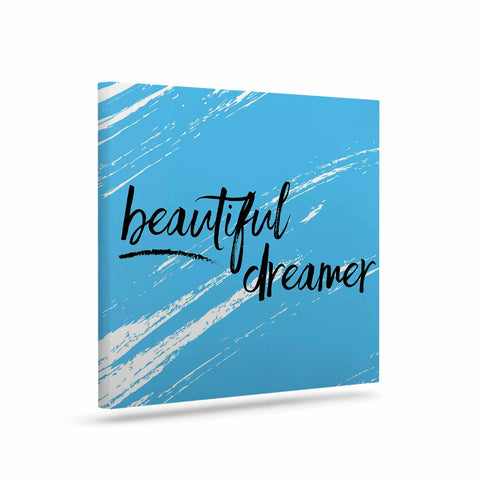 "NL designs ""Beautiful Dreamer"" Blue Typography Canvas Art - KESS InHouse  - 1"