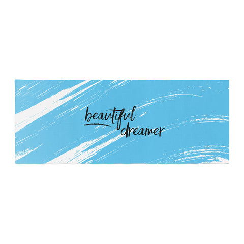 "NL designs ""Beautiful Dreamer"" Blue Typography Bed Runner - KESS InHouse"