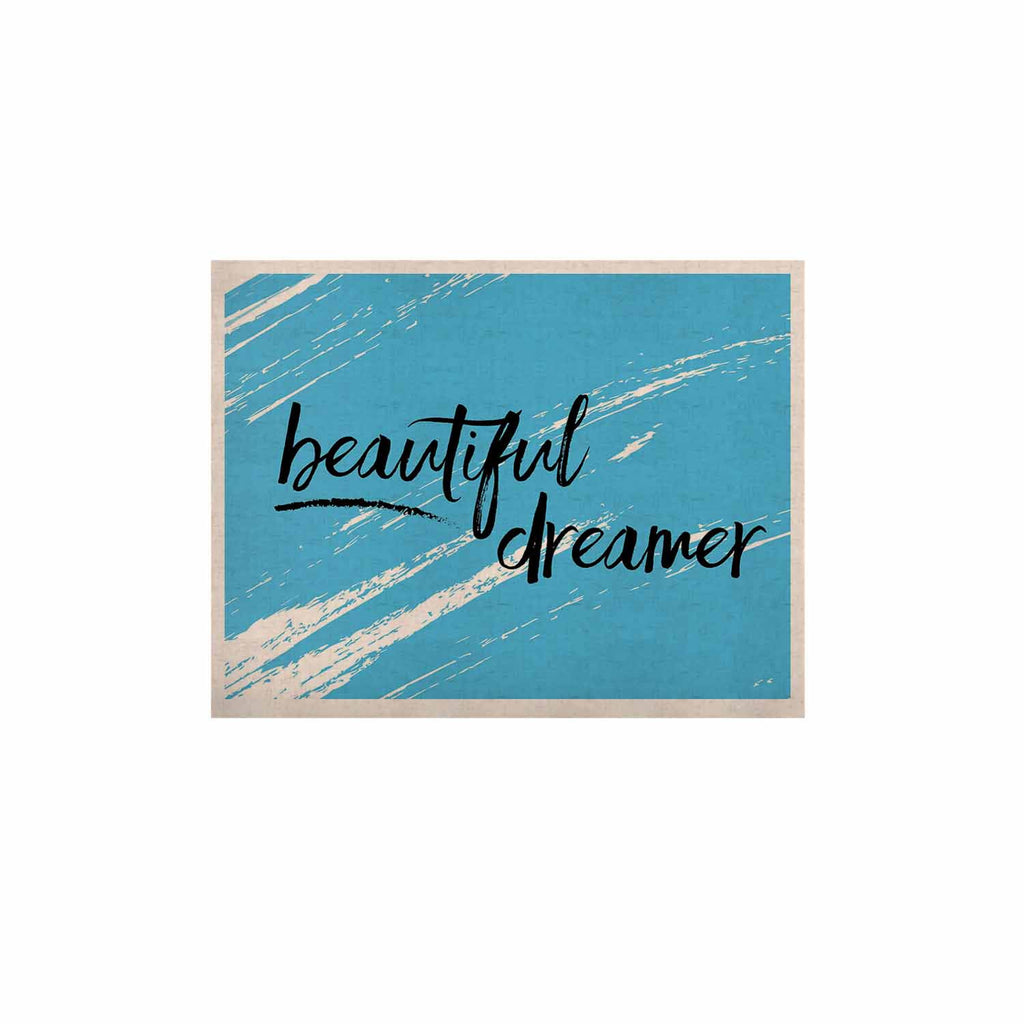 "NL designs ""Beautiful Dreamer"" Blue Typography KESS Naturals Canvas (Frame not Included) - KESS InHouse  - 1"