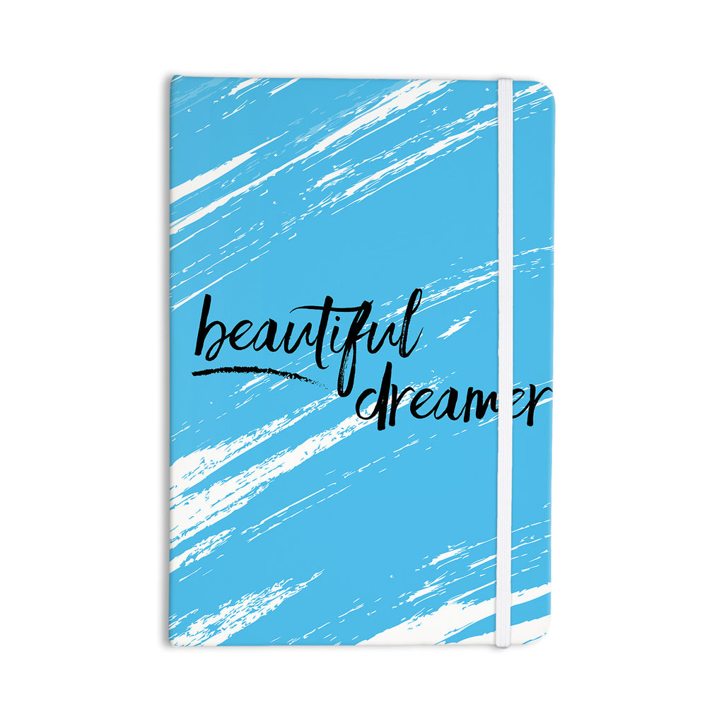 "NL designs ""Beautiful Dreamer"" Blue Typography Everything Notebook - KESS InHouse  - 1"