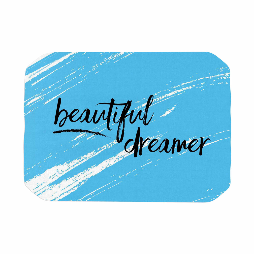"NL designs ""Beautiful Dreamer"" Blue Typography Place Mat - KESS InHouse"
