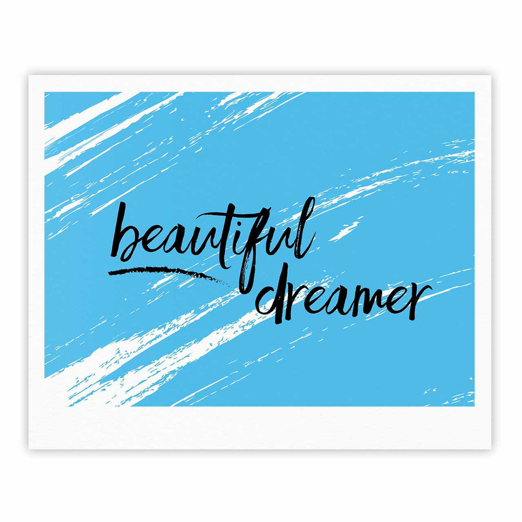 "NL designs ""Beautiful Dreamer"" Blue Typography Fine Art Gallery Print - KESS InHouse"