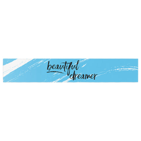 "NL designs ""Beautiful Dreamer"" Blue Typography Table Runner - KESS InHouse  - 1"